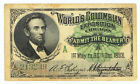 1893 Abraham Lincoln World Columbian Exposition Chicago Ticket