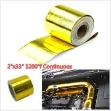 "2""x33"" Roll Self Adhesive Reflective Gold High Temperature Heat Shield Wrap Tape"