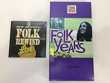 Time Life The Folk Years 3 Disc Set Music Rewind Live Bonus CD Peter Paul Mary +