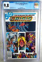 Crisis on Infinite Earths #11 NEWSSTAND D.C. 1986 CGC 9.8 NM/MT WP Comic M0164