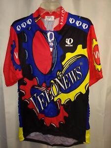 NWT Velonews Quarter Zip SS Biking Cycling Jersey Red/Yel/Blue (XL) Pearl Izumi