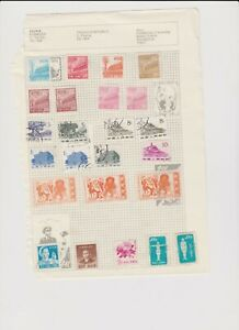 2177 China 3 sides album page 58 stamps mixed condition