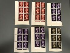 GB 2/3/4/5d MNH Machin 2 Plate Blocks of 6 (total of 11) cat value 117 GB pounds