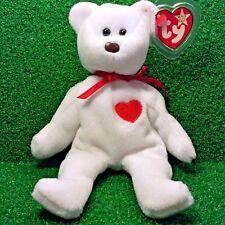 Truly Rare Valentino Bear Ty Beanie Baby 1993 WHITE STAR PVC Canadian Tush MWMT