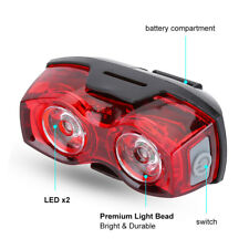 Hot 2 LED Bright Cycling Bicycle Bike Safety Rear Tail Flashing Back Light ST