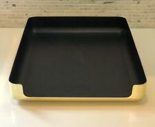 Vintage Eldon Desk Tray Emphasis 6000 Brass Gold Office Organizer In/Out Box