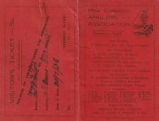 """1928 FISHING LICENCE FOR """"NEW CUMNOCK ANGLERS' ASSOCIATION"""". AYRSHIRE, SCOTLAND."""