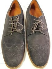 BURTON Lace-up Suede Dark Blue Leather Oxford Brogues - UK 10.5 - Pre-worn VGC