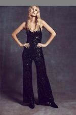 NwoT Free People Sequin Jumpsuit In Emerald Color Size Large Sold Out