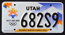 "UTAH "" OLYMPIC WINTER GAMES 2002 Salt Lake City "" UT Specialty License Plate"