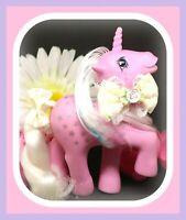 ❤️My Little Pony MLP G1 Vtg Twice as Fancy TAF MILKY WAY Glitter Stars Unicorn❤️