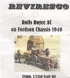 Rolls Royce auf Fordson Chassis - Englischer Panzerwagen 1940 - 1:72 Zinnbausatz