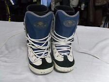 Women's Black, White, Blue Vans Dino-2 Snowboard Boots Size 6R Rs 7161