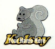 Squirrel Custom Iron-on Patch With Name Personalized Free
