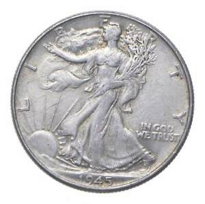 1945 Walking Liberty 90% Silver US Half Dollar *007
