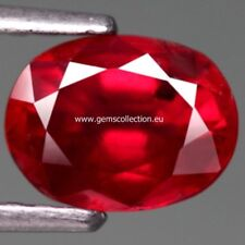 AAA RUBINO NATURALE - NATURAL RUBY CT 1.88 SI TOP RED OVAL CUT ORIGIN MADAGASCAR