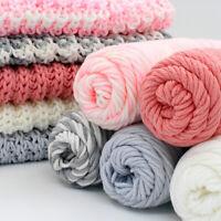 100g Chunky Milk Cotton Solid Yarn Bulky Knitting Wool Crocheting DIY Gift Craft