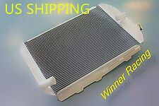 Fit CHEVY HOT/STREET ROD 6 CYL. W/TRANNY COOLER 1938 56MM ALUMINUM RADIATOR