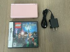 Nintendo DS Lite Coral Pink System w/ Stylus Charger & Lego Harry Potter Game