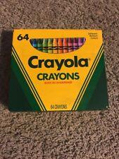 Vintage Crayola Crayons 64 - Built-In Sharpener 1990 - Made in USA - Unused