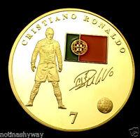 Ronaldo Real Madrid World Cup Gold Coin Brazil Signature 2018 Juventus Turin UK