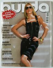 Rivista Burda Style luglio 2008 Italia cartamodelli cucito