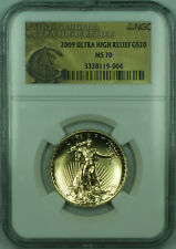2009 St Gaudens Ultra High Relief Double Eagle $20 1 Oz Gold Coin NGC MS-70 (KD)