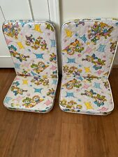 2 Vintage 60s Child's Outdoor Lawn Cushion Lounge Chair Pad Cute Cowboy Cowgirl