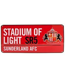 Sunderland AFC Official Crested Red Metal Street Road Sign Stadium Of Light SR5
