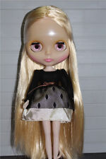 """12"""" Neo Nude  Golden Hair Blythe doll From Factory Transparent Skin JSW45003"""