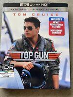 TOP GUN 4K ULTRA HD BLU-RAY DIGITAL CODE INCLUDED TOM CRUISE BRAND NEW/SEALED