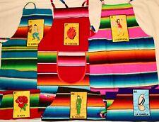Loteria Adult Apron 1 apron (colors may vary)1 Mandil de la loteria Serape apron