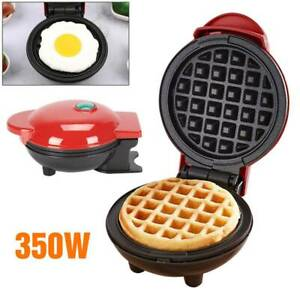 Global Gourmet Waffle Maker Machine  Round Waffle Mix Mini  Kitchen Supplies