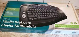 Logitech Media Keyboard Clavier Multimedia PS/2 967415-0403 NEW IN BOX