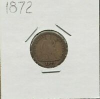 1872 P Liberty Seated Silver Dime Coin Choice Circulated Condition