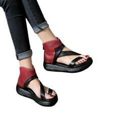 Women Gladiator Chunky Heel Peep Toe Mom Comfort Hollow Out Sandals 41 42 43 D