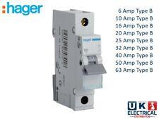 Hager MTN 6A 10A 16A 20A 25A 32A 40A 50A Amp 6kA Type B Single Pole MCB Breaker