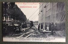 CPA. 1912. Manoeuvres d'Automne. Dirigeable LA REPUBLIQUE. Aérostiers. Pub.