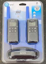 Onn 32 Mile 22 Channel Walkie Talkie, 2 Pack (Ona19Wt004) New Free Shipping