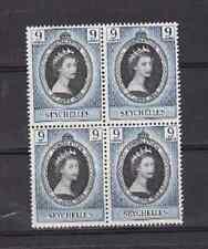 Seychelles 1953 block of 4 MNH Mint Never Hinged QE II Coronation