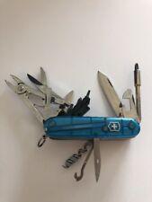Victorinox - CyberTool 34 - Translucent Blue - Swiss Army SAK Multi-Tool - 53942