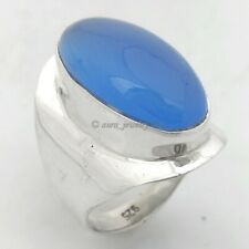 Blue Chalcedony 925 Sterling Silver Ring #4488 - ANY SIZE