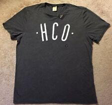 NWT Hollister Men's Shirt HCO Short Sleeve T-Shirt SZ XL Extra Large Gray New!