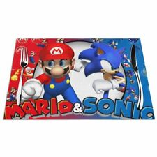 Sonic the Hedgehog Super Mario Placemat Table Mats Dining Woven PVC Insualtion