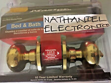 Master Lock  BCO0303 Ball Knob Passage Door. POLISH BRASS/BED&BATH LOCKABLE NEW