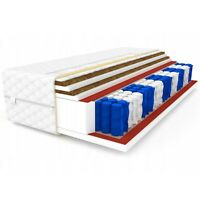 Matratze 100x200 Taschenfederkern 7 Zonen DOUBLE 2xKokos H3 24 cm Bett Matratzen