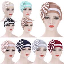 Women Hair Loss Turban Braid Hat Headscarf Warp Cover Cancer Chemo Cap Indian