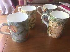 FOUR Beautiful Royal Worcester  Morris & Co Porcelain Mugs