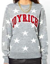 Joyrich Oversized Grey Knitted Sweater Size Small S UK 8 10 Stars Spellout Xmas