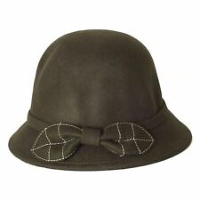 Cloche Hat with a Leaf Shaped Beautiful Bow